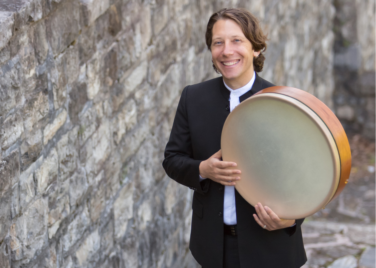 Dan Visconti working on a new concerto for Grammy-winning Silk Road Ensemble percussionist Shane Shanahan